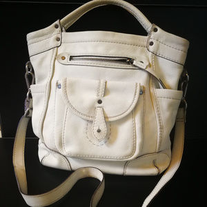 Abercrombie & Fitch White Leather Cross Body Bag